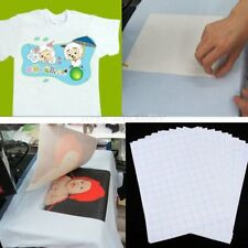 10pc T Shirt A4 Transfer Paper Iron On Heat Press Light Fabrics Inkjet Print New
