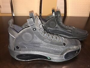 New Nike Air Jordan 34 Black Cat Sneaker Shoes Size US 13