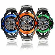 Kid Boy Girl Waterproof Multifunction Sports Analogue Digital Wrist Watch New UK