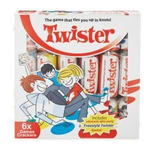 Hasbro Twister Christmas Crackers And Mini Board Game