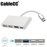 Type C to USB Adapter Thunderbolt 3 to 3 Port USB3.0 2.0 Hub with Type-c Female