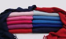 Wholesale job lot of Womens Plain Satin Viscose Pashminas Assorted Colours £2