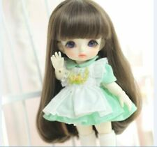 "New 1/8 BJD Doll Long Hair Wig Size 5-6"" 5/6Fit Pukifee Yellow Lati Sophie"