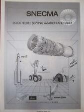 1/1983 PUB SNECMA MOTEUR ENGINE AVIATION ESPACE SEP HERMES SOCHATA BUGATTI AD