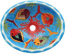"""M 165 ~ 17"""" x 14"""" Talavera Ceramic Mexican Bathroom Sink"""