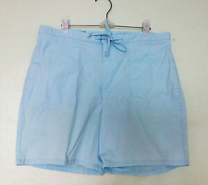 NWOT LAND'S END Powder Blue Drawstring Shorts Sz 8 / Fits Plus Large