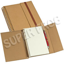 A5 Eco Clear Notebook Notepad Writing Pad Note Plain Hardback Cardboard Cover