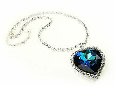 Made with Swarovski Crystals Blue Heart of the Ocean Titanic Necklace Gift Boxed