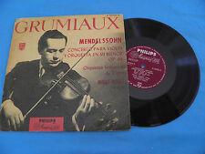 "Mendelssohn - Concerto For  Violin - Grumiaux - RARE Philips Minigroove 10"" LP"