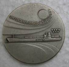 ZIM CONTAINER SERVICE, 1972 CM-52 -COMMISSIONED MEDAL 45MM -40 GRAMS UNC