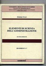 Terrasi#ELEMENTI DI SCIENZA DELL'AMMINISTRAZIONE #Quattrosoli 1996 Quaderno n.3