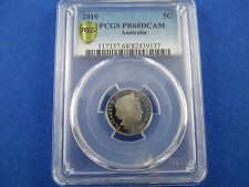 2010 Australia 5 cents PROOF PCGS PR68 DCAM
