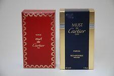 MUST DE  CARTIER PARFUM 30 ML  REFILLABLE OLD FORMULA