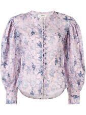 Etoile Isabel Marant Lilac Tilo Linen Blouse Spring Summer 2019 Size 36 S