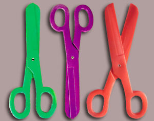 """Clown Jumbo Scissors Large 15"""" Colorful Plastic Novelty Clown Or Theater Prop"""