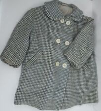 Vintage Youth Kids Houndstooth Wool Overcoat Jacket - Teichmann-Modelle
