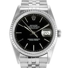 Rolex Datejust 36mm 16234 Unisex Stainless Steel Automatic Black 1 Year Warranty