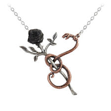 Alchemy of England A Rose For Eve Snake Necklace