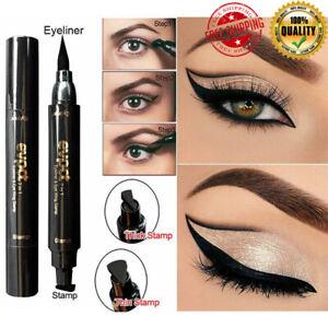 Black Liquid Eyeliner Stamp Pencil Waterproof Eye Liner Pen Cosmetic Eye Makeup
