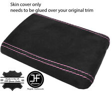 PINK STITCHING REAL SUEDE ARMREST COVER FITS SUBARU IMPREZA WRX STI 2001-2004