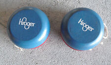 Lot of 2 Vintage Wood Kroger Yoyo Yo-yo Red and Blue LOOK