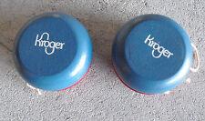 Lot of 2 Vintage Wood Kroger Yoyo Yo-yo Red and Blue LOOK