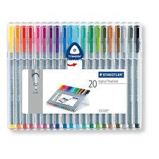 Staedtler ~ Triplus Fineliner 0.3mm Pens ~ 20 Colors ~ NIP
