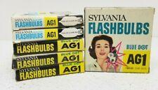 Lot of 72 Vintage Sylvania Blue Dot Ag1 Flash Bulbs Camera Photography Nos 6 Box