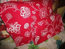 IKEA ALVINE FLOR RED WHITE JACOBEAN FLORAL (2PC) TWIN DUVET COVER & SHAM