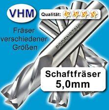 5 Stk. 5mm Vollhartmetall Fräser Schaftfräser Kunststoff Holz VHM Schaft=6x50mm