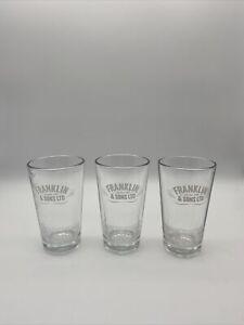 Set of 3 FRANKLIN & SON'S LTD Tumbler Glasses 270 Cc 9 1/2 UK OZ 9 US OZ