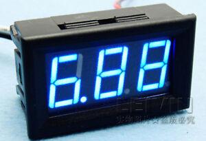 """New 10A 0.56"""" Blue LED DC Digital Panel Ammeter 0~9.99A AMP Ampere Meter"""