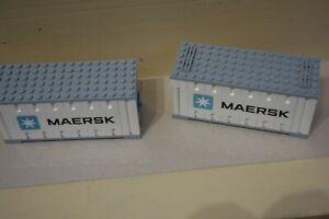 Lego aus 10219 Eisenbahn City 2x Container aus Set wie abgebildet gebraucht