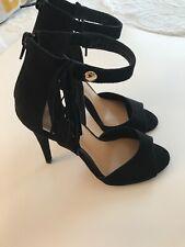Nine West Stiletto Black Suede Size 6 M excellent condition.