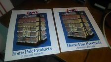 TWO LANCE SNACK FOODS CENTER HOME PAK SALES FOLDERS