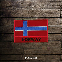 NORWAY National Flag With Name Embroidered Iron On Sew Patch Badge