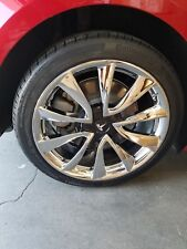 "19"" TESLA MODEL 3 FACTORY CHROME WHEELS FOR EXCHANGE"