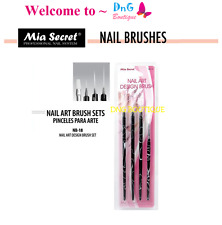 Mia Secret 4 pcs Nail Art Brush Set can be used W Gelux or Acrylic Paint NB18
