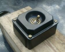 More details for vintage pre-war cast metal industrial one way single light switch box