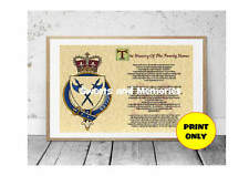 A4 Surname Family Name Meaning History Origin Print Round Crest 1 Personalised