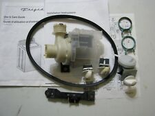 Drain Pump for Frigidaire FTW3011KW with switches and drive belt fits many other