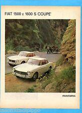 QUATTROR964-PUBBLICITA'/ADVERTISING-1964-FIAT 1500/1600 COUPE' S PININFARINA (B)