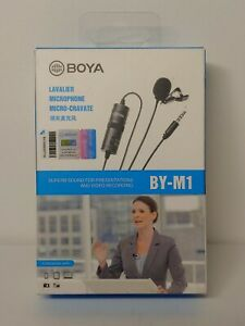 BOYA BY-M1 3.5mm Lavalier Microphone For Smartphone DSLR Cameras Hands Free Clip