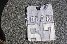 Used Child Polo Ralph Lauren L/S T-Shirt, Grey, 'Polo RL 67' logo, Size M(10-12)