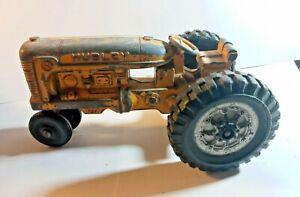 Vintage Hubley Tractor Farm Equipment Kiddie Yellow Pressed Steel 5in Diecast
