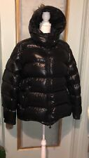 Moncler Black Shiny Down Puffer Mens Hooded Jacket Size 7