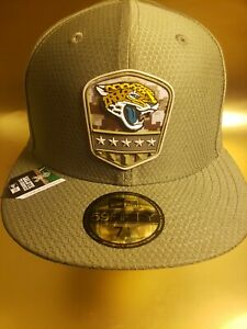 New Era 59FIFTY Salute To Service Jacksonville Jaguars Fitted Hat Cap Size 7 1/8