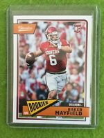 BAKER MAYFIELD ROOKIE CARD JERSEY #6 BROWNS RC 2018 Panini Classics Football#208