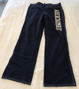Abercrombie & Fitch Women's Sweatpants Relaxed Fit Navy Large