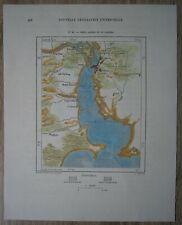 1894 Perron map PORTO ALEGRE & GUAIBA RIVER, RIO GRANDE DO SUL, BRAZIL (#96)